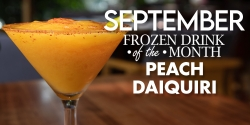 Frozen Drink Of The Month - Peach Daiquiri